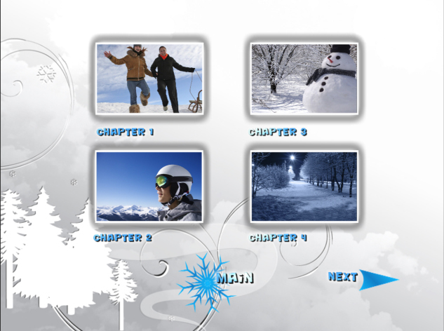 pinnacle studio templates - winter titles and dvd menus pinnacle template winter pack
