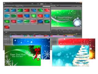 This collection of elegant Montage compositions features festive colors and seasonal elements (including snow, stars, ice, light, and ornaments), enabling you to create sophisticated designs in seconds.