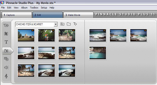 Import and place the photos